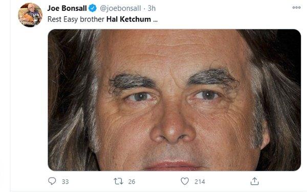 Joe Bonsall offering their condolences.