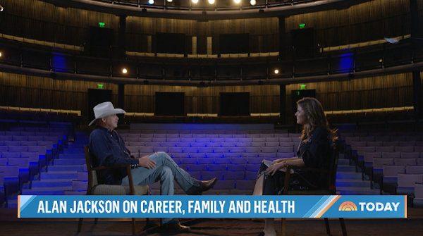 Alan Jackson talking on the NBC's Today Show