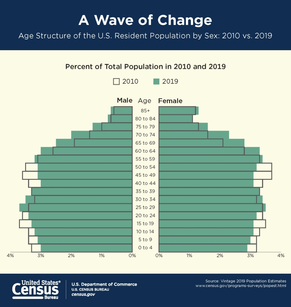 US Census Population By Age Chart