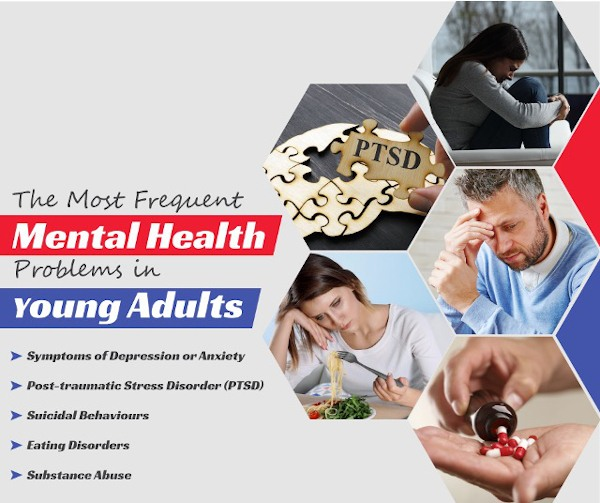 The most frequent mental health problems