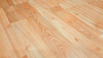 A hardwood floor.