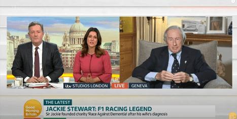 Sir Jackie Stewart being interviewed on Good Morning Britain